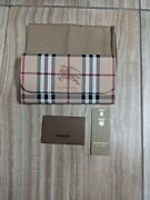 Harris Haymarket Check Leather Tan Cream Check Wallet New Large