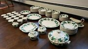 Napoleon Ivy Green China Queen's Ware By Wedgwood - 107 Piece Set