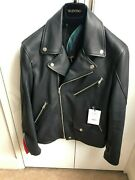 100 Authentic Paul Smith Leather Biker Slim Fit Jacket Size M Rrp Andeuro 1940