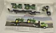 Ertle John Deere Toy 520 Tractors And A Classic Mack Tractor-trailer Collectorand039s S