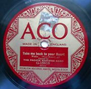 The Pacific Marimba Band 10 78rpm Aco G-15818 Take Me Back To Your Heart