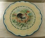 Lenox Provencal Garden Rooster Accent Plate - 9 1/2 Inch New