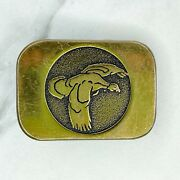 Basic Tool And Supply Vintage 1984 Signed Steven L. Knight Duck Bronze Belt Buckle