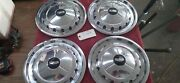 Set Of 4 1957 57 Chevy Hubcaps 14