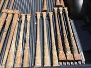 36 Antique Cast Iron Ornamental Stair Railing Balusters Solid Natural Iron 1800s