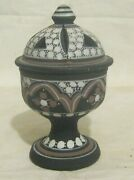 Lovely Small Decorative North African Design Lidded Pot Marked Agadir 4andfrac12 Ins