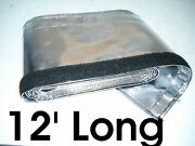 Metallic Heat Shield Thermal Sleeve Insulated Wire Hose Protect Cover 12 Ft Long