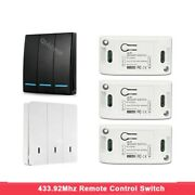 Wireless Remote Control Switch 220v Relay Receiver Wall Panel Transmitter Device