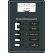Blue Sea 8043 Ac Main +3 Positions Toggle Circuit Breaker Panel - White Switches