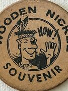 Vintage Souvenir Wooden Nickel Durham N.c.coin Shop North Carolina And039howand039-funny