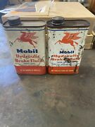 Antique Mobil Oil 2 Cans And Gargoyle Vacuum Oil Company Gas Station