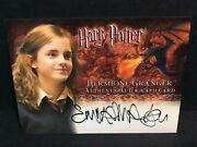 Harry Potter Goblet Of Fire Autograph Trading Card Hermione Granger Emma Watson