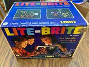 Vintage Patent Pending 1967 Hasbro Lite-brite W/ Manual, Sheets, And Pegs