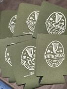 New Guinness Can Koozie Olive Green Lot Of 6 Beer St. Jame's Gate
