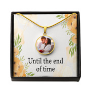 Personalized To My Wife/husband Until The End Of Time Circle Necklace Stainless
