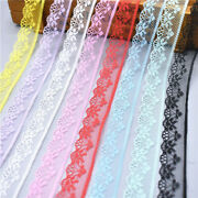 5-600 Yards Lace Ribbon Tape 18mm Trim Fabric Diy Embroidered Wedding Decoration
