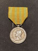 Original 1885 French Navy Tonkin Campaign Medal Silver