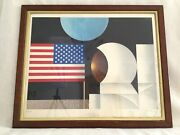 Apollo Space Mission Moon Landing Nasa Large Framed Limited Edition Signed Print