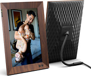 Nixplay 10.1 Inch Smart Digital Picture Frame Wood Effect - Share Video Clips Or