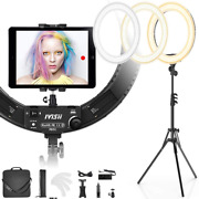 Ivisii 19 Inch Ring Light With Stand And Phone Holder60w Bi-color Or For Live