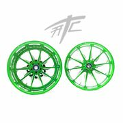Yzf Stock Size Lime Green Contrast Cut Launch Wheels 2015-2020 Yamaha Yzf R1