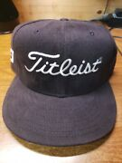 New Titleist Footjoy New Era 5950 59fifty 7 3/8 Darkbrown Fitted Hat Made In Usa
