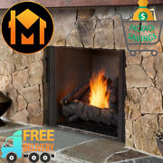 Majestic Courtyard Outdoor Gas Fireplace 42 Standard Panel With Standard Logs