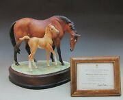 Royal Worcester Horse And039s Grace And Foal Doris Linder From Japan Jp Very Rare