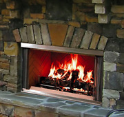 Majestic Montana Outdoor 36 Wood Fireplace Durable Stainless Steel Montana-36