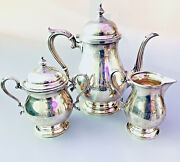 Fisher Sterling Silver Three Piece Coffee/tea Service 2303
