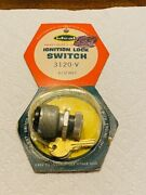 Nos Vintage Ideal Universal Ignition Lock Switch W/ Two Keys - Part No 3120-v