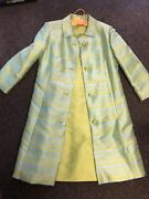 Vintage 1950's-60's House Of Lords Green Dress And Coat Set Retro Modern