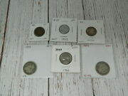 Us Coin Lot Silver 1892 Barber Quarter 1947 Dime 1892 Indian Head 1943 Lincoln