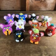 Mcdonalds 1998 Furby Toys Lot Of 10 Furbies Happy Meal Vintage Toys Guc