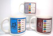3 Trivial Pursuit Coffee Mugs Silver Screen, Baby Boomers, Young Players 1983-84