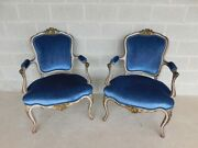 Vintage French Louis Xv Style Accent Arm Chairs - A Pair