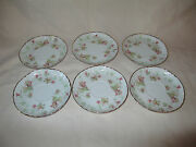 Hutschenreuther Selb Bavaria Maple Leaf 7578 6 Coffee Saucers 5 1/2 Mint Cond.
