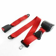 1x Fits Nissan 3-point-fixed Auto 3pt Harness Safety Seat Belt Red Universal