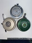 Vintage Fly Fishing Reel Lot3 1-shakespeare 1824, 1837 And 1-h-i Auto Ff Reel