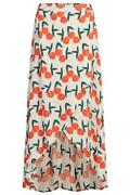 Reduced Brand New Fabienne Chapot Cora Skirt In Peachy Print Rrp £124.99