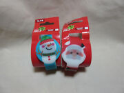 Lot Of 2 Silicone Light Up Watches - Santa, Snowman Touch Watch Wristwatch