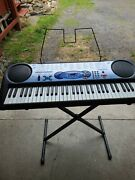 Casio Lk-42 Synthesizer Keyboard Lighted Keys Learning W/ Stand Music Holder