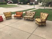 Vintage Tell City Wood Glider Rocker Love Seat / Seats And Chairs Original