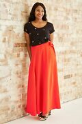 Reduced Brand New Fabienne Chapot Bobo Lou Coral Maxi Skirt Rrp £109.99