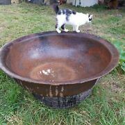 Syrup Kettle Cast Iron Antique Old Authentic Original 1800and039s Georgia 80 Gallons