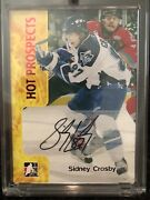 2006-07 Itg Sidney Crosby Auto Rc Heroes And Prospects Signed Gem Mint Penguins