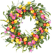 Dearhouse 20 Artificial Daisy Flower Wreath Floral Front Door Wreath With Vibr