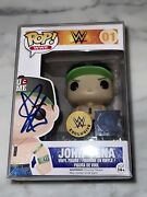 John Cena Wwe Autographed Signed Funko Vaulted Very Rare Hard To Find