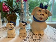 Vintage Shawnee Muggsy The Toothache Dog Cookie Jar And Salt And Pepper Shakers-usa