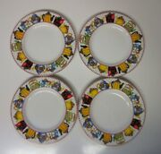Mary Engelbreit Afternoon Tea Set Of 4 Saucers Bread And Butter Plates 6 1/2